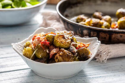 Roasted Brussels Sprouts with Bacon, Balsamic & HoneyPicture