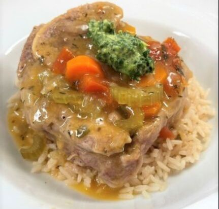 Osso Buco on rice with Gremolata